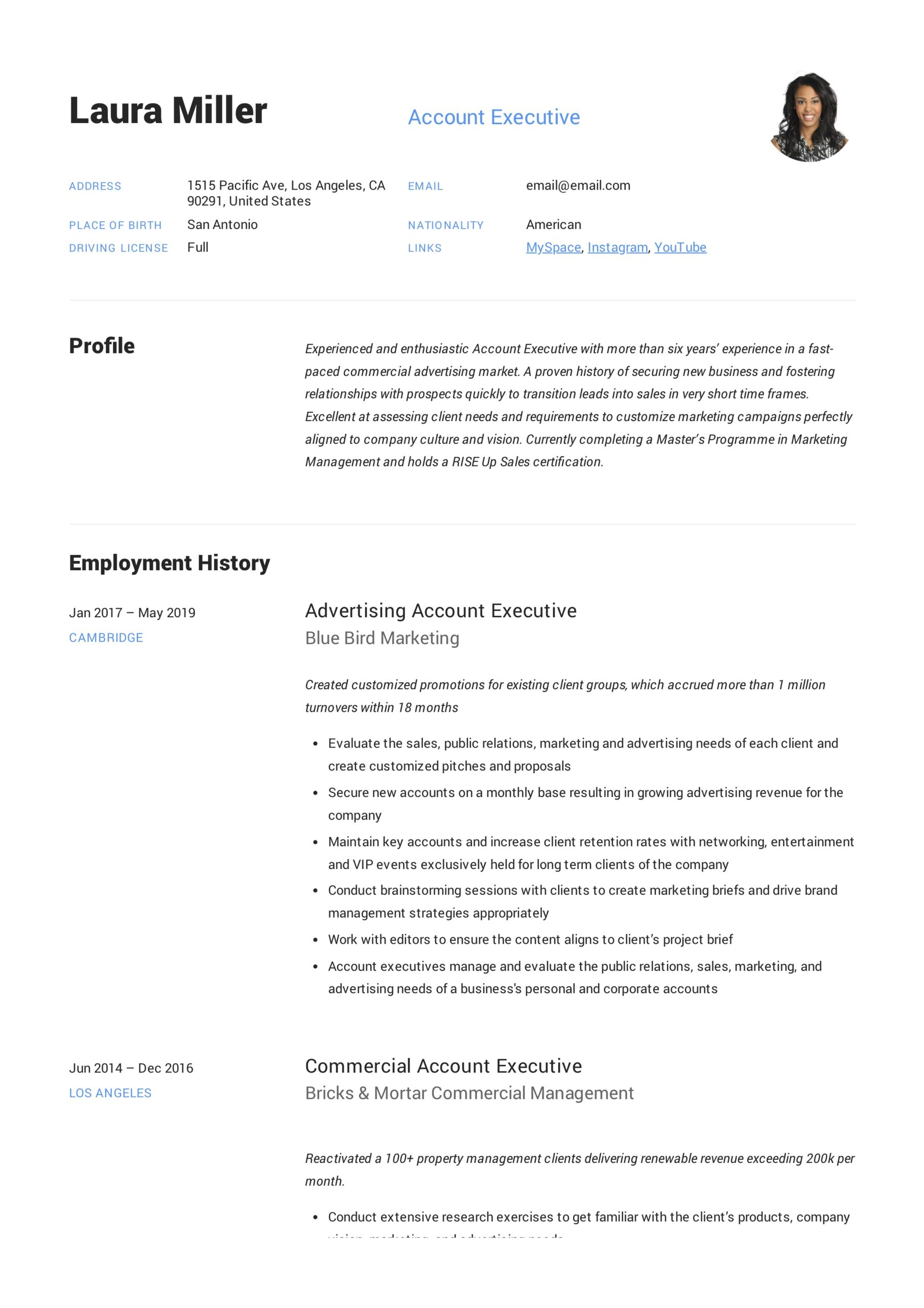 account executive resume writing guide templates pdf example community service worker Resume Account Executive Resume