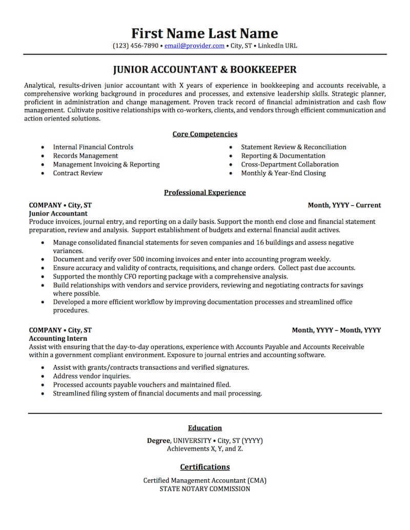 accounting auditing bookkeeping resume samples professional examples topresume of core Resume Examples Of Core Competencies On Resume