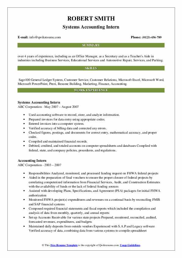 accounting intern resume samples qwikresume pdf brief description of yourself example Resume Accounting Intern Resume
