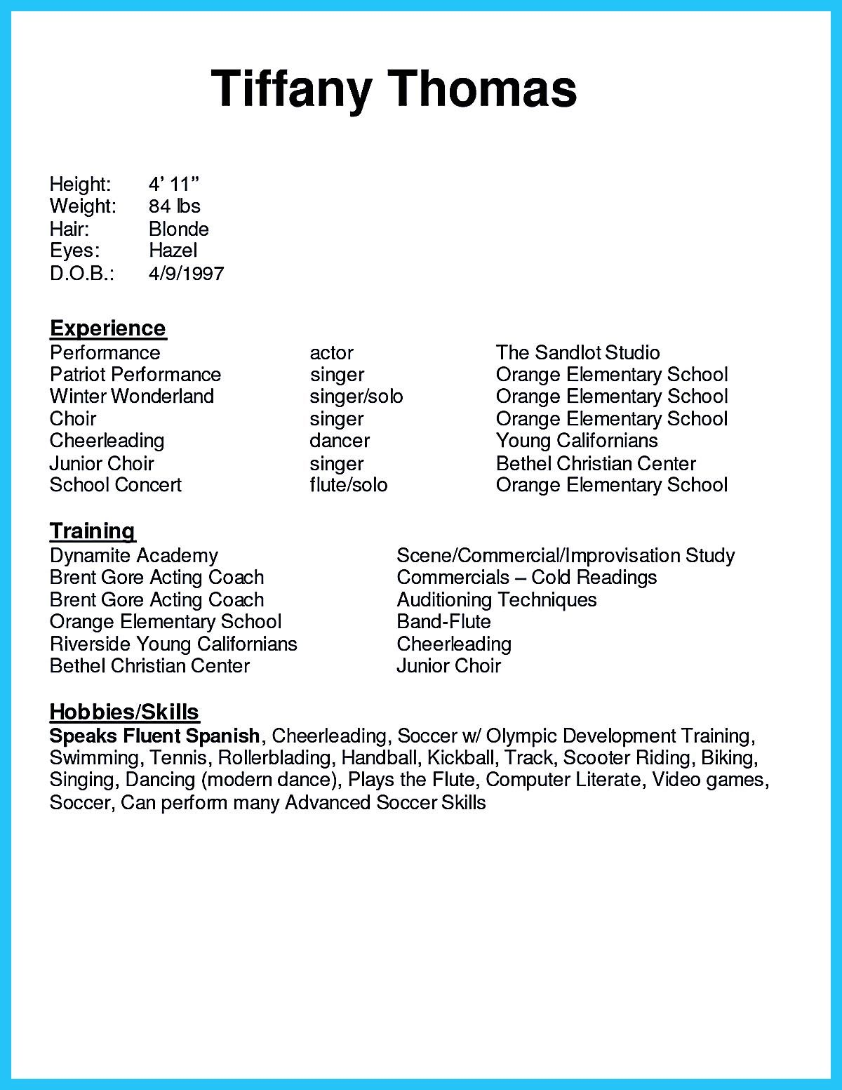 acting resume sample presents your skills and strengths in details the objective cover Resume Computer Literate Resume