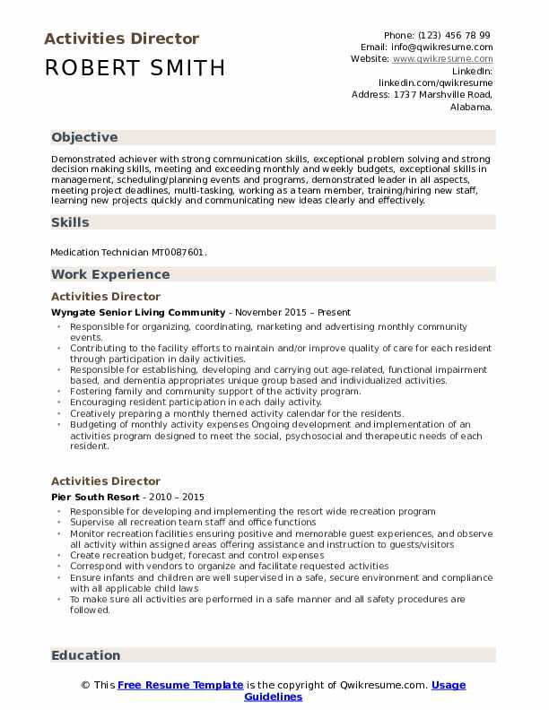 activities director resume samples qwikresume pdf accounting assistant sample production Resume Activities Resume Samples