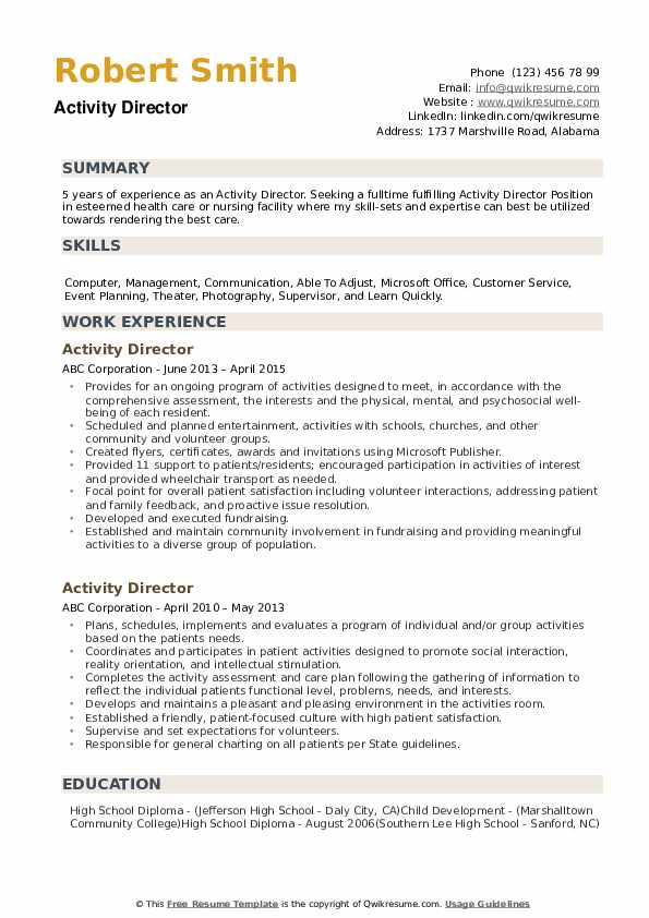 activity director resume samples qwikresume activities pdf accounting assistant sample Resume Activities Resume Samples