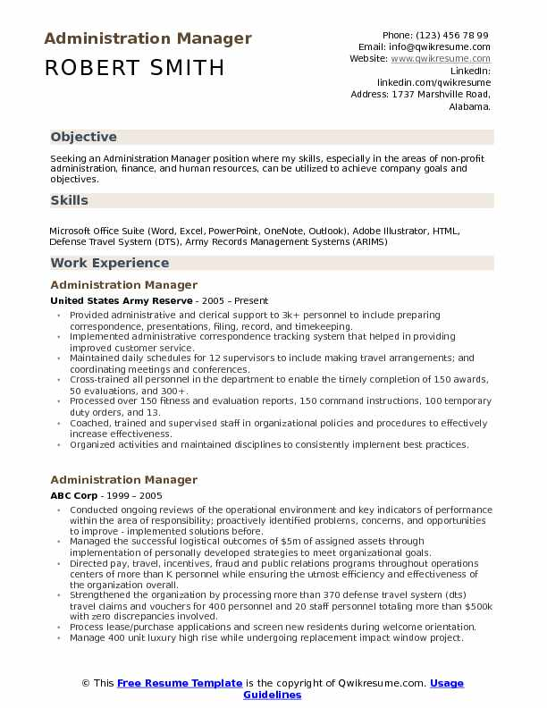 administration manager resume samples qwikresume format for pdf editing services elderly Resume Resume Format For Administration Manager