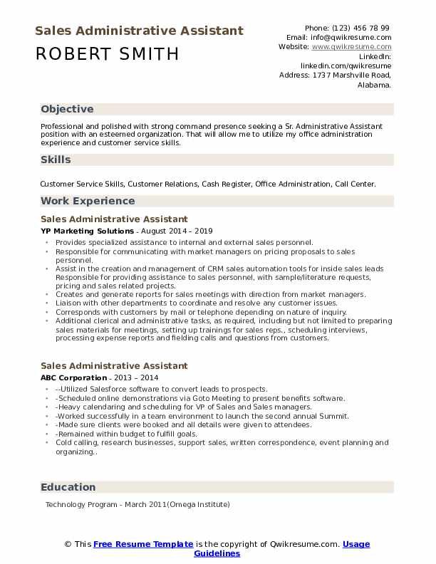 administrative assistant resume samples qwikresume admin objective for pdf marketing Resume Admin Assistant Objective For Resume