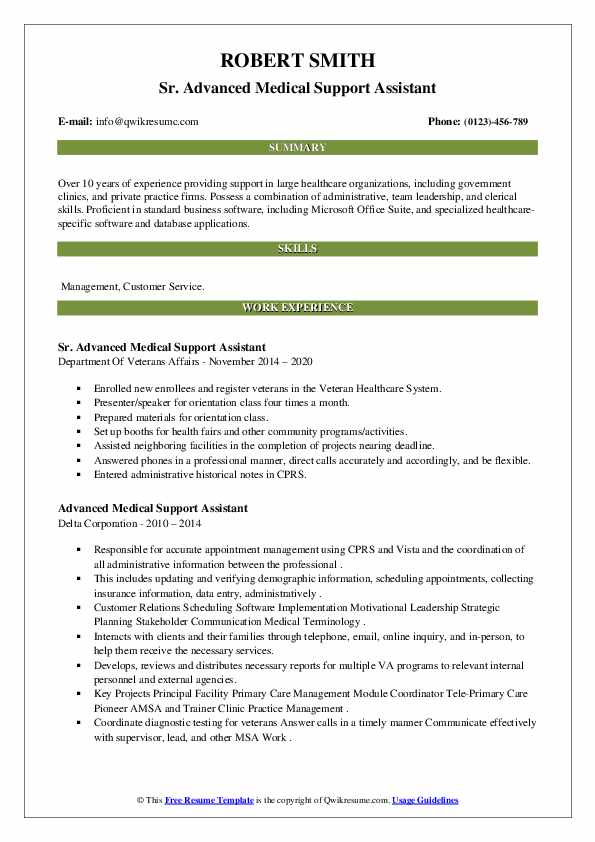 advanced medical support assistant resume samples qwikresume sample pdf create template Resume Medical Support Assistant Resume Sample