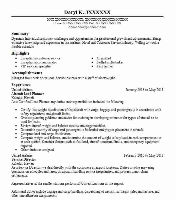 aircraft maintenance planner resume example airlines euless scheduler manager job duties Resume Maintenance Scheduler Resume