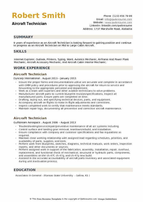 aircraft technician resume samples qwikresume airframe and powerplant examples pdf claims Resume Airframe And Powerplant Resume Examples