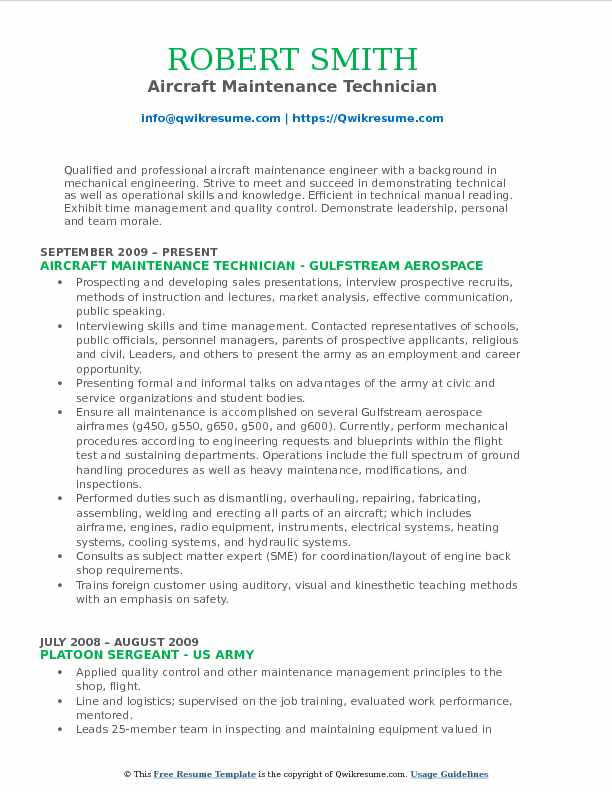 aircraft technician resume samples qwikresume airframe and powerplant examples pdf pre Resume Airframe And Powerplant Resume Examples