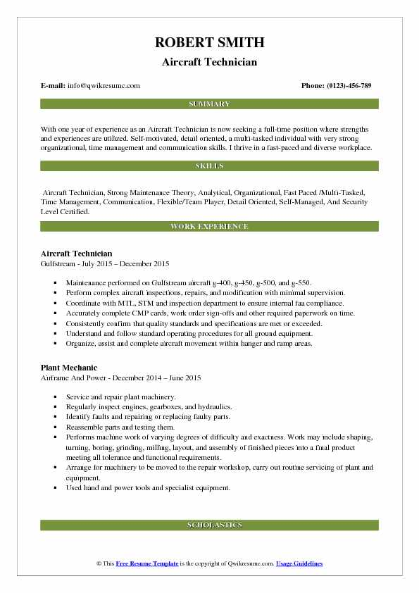 aircraft technician resume samples qwikresume airframe and powerplant examples pdf Resume Airframe And Powerplant Resume Examples