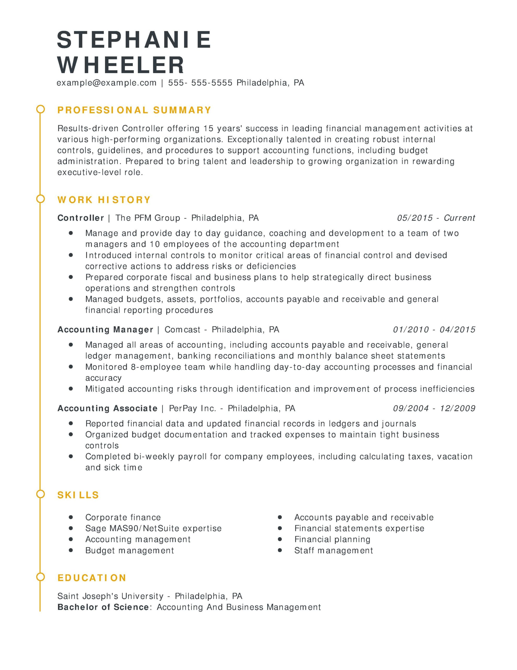 amazing finance resume examples livecareer excellent controller esteemed chrono scaled Resume Excellent Resume Examples 2020