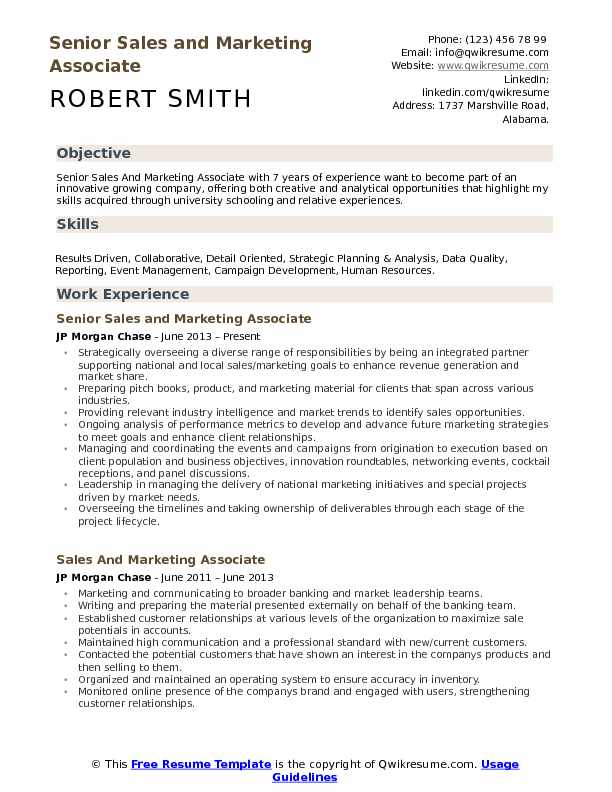 and marketing associate resume samples qwikresume job objective pdf builder for first Resume Marketing Job Resume Objective