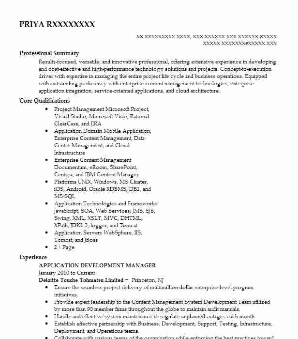 application development manager resume example the babcock company barberton sample Resume Application Development Manager Resume Sample