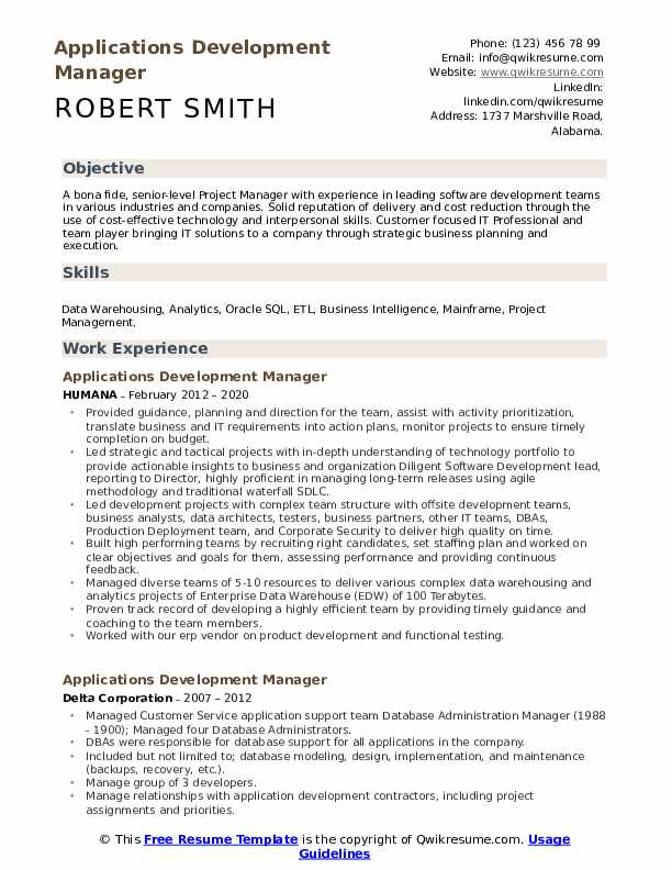 applications development manager resume samples qwikresume application sample pdf profile Resume Application Development Manager Resume Sample
