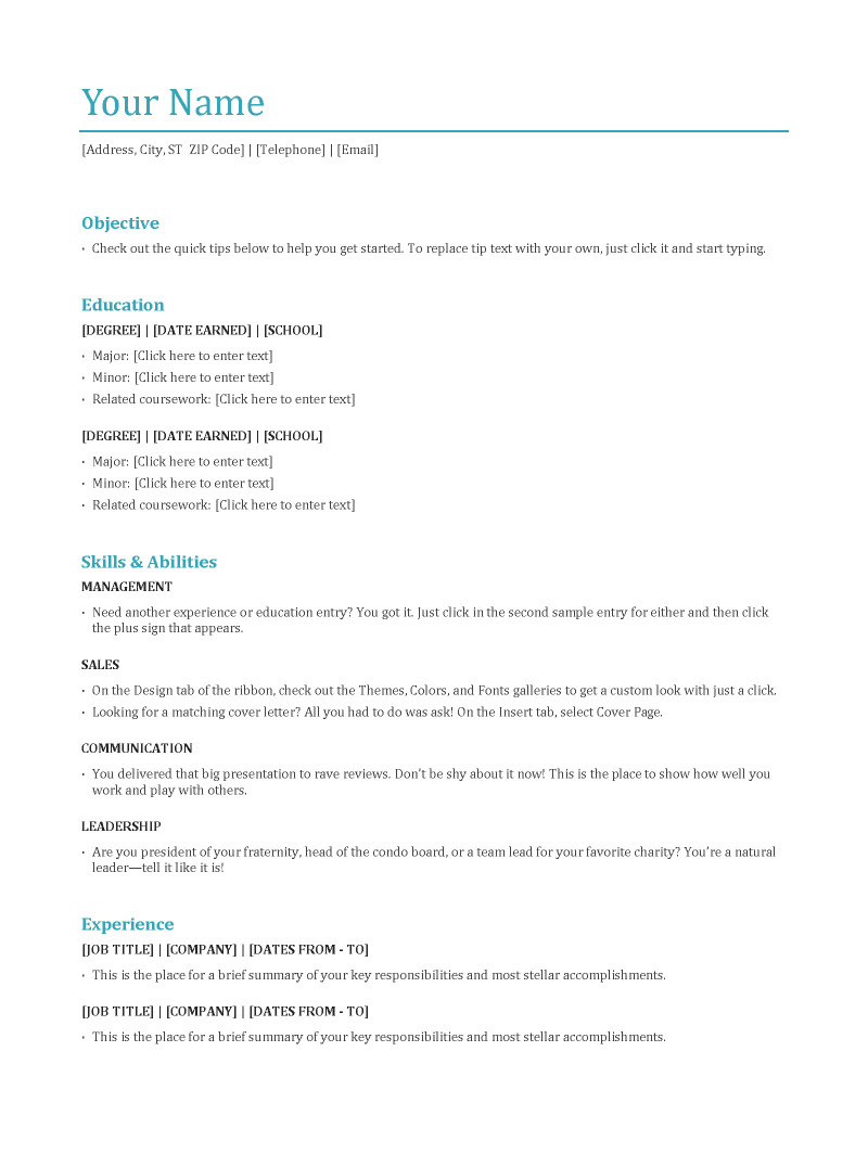 are the main resume types jobcluster blog related experience on functional format process Resume Related Experience On Resume