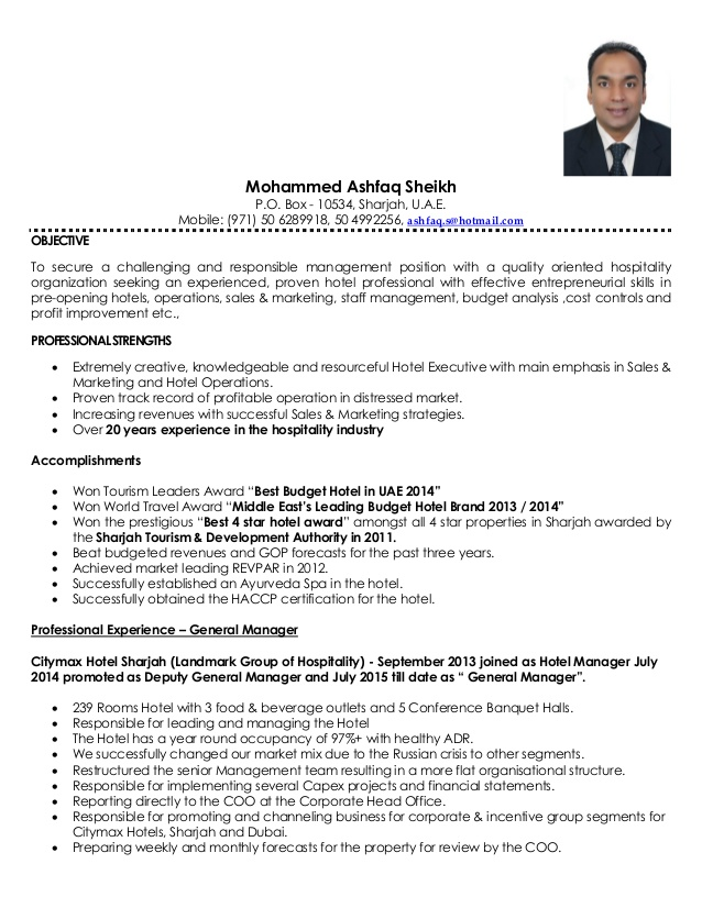 ashfaq sheikh resume general manager pdf skills for best format first job butterfly Resume Skills For General Manager Resume