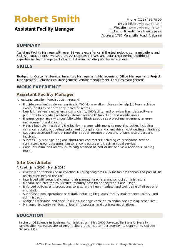 assistant facility manager resume samples qwikresume operations sample pdf caljobs human Resume Facility Operations Manager Resume Sample