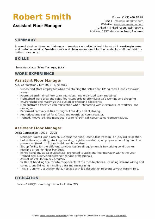 assistant floor manager resume samples qwikresume retail pdf human resources coordinator Resume Retail Floor Manager Resume