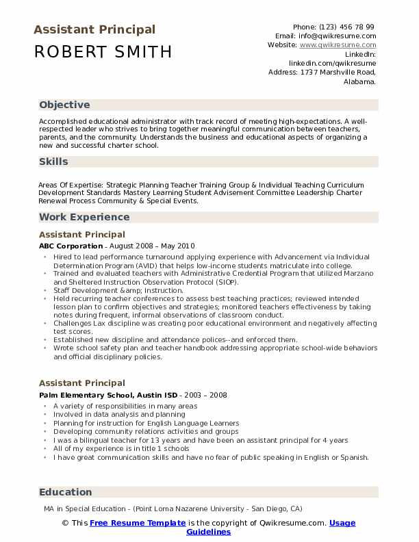 assistant principal resume samples qwikresume pdf research associate objective material Resume Assistant Principal Resume