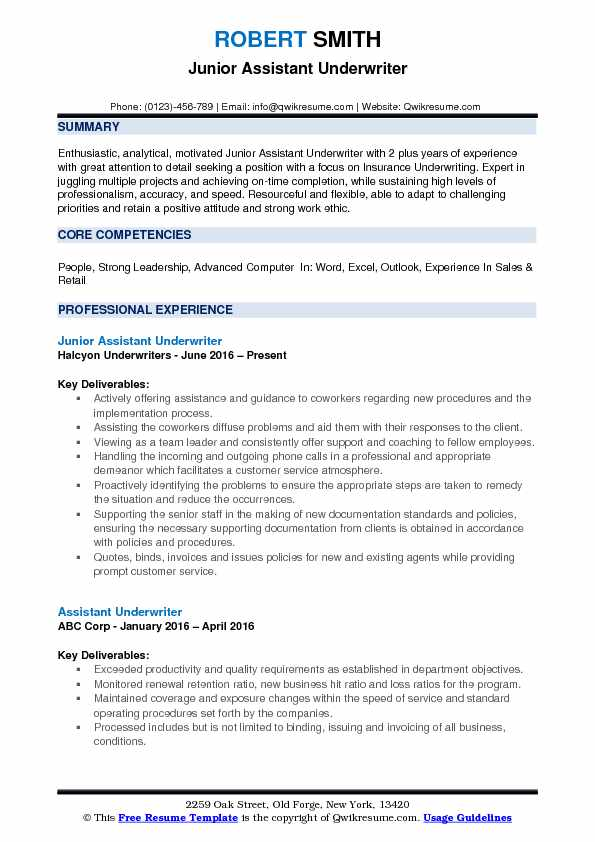 assistant underwriter resume samples qwikresume auto pdf military email cover letter for Resume Auto Underwriter Resume