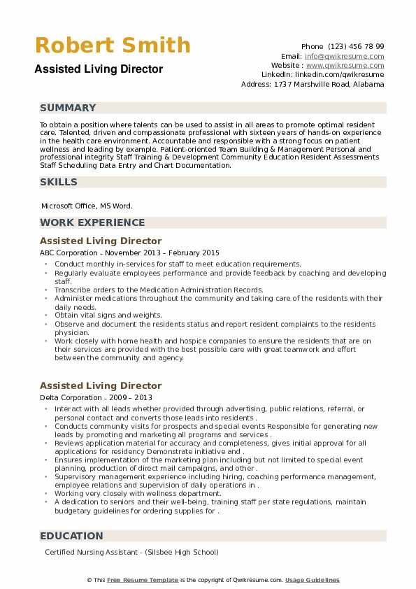 assisted living director resume samples qwikresume another word for on pdf paper size and Resume Another Word For Assisted On Resume