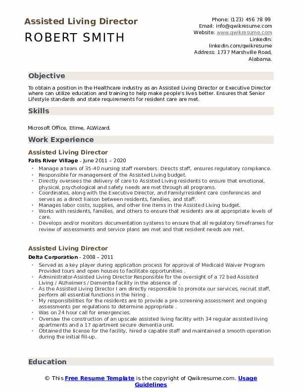 assisted living director resume samples qwikresume another word for on pdf results Resume Another Word For Assisted On Resume
