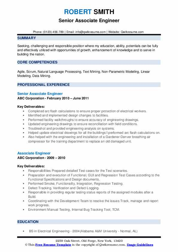 associate engineer resume samples qwikresume professional summary for engineering pdf Resume Professional Summary For Engineering Resume