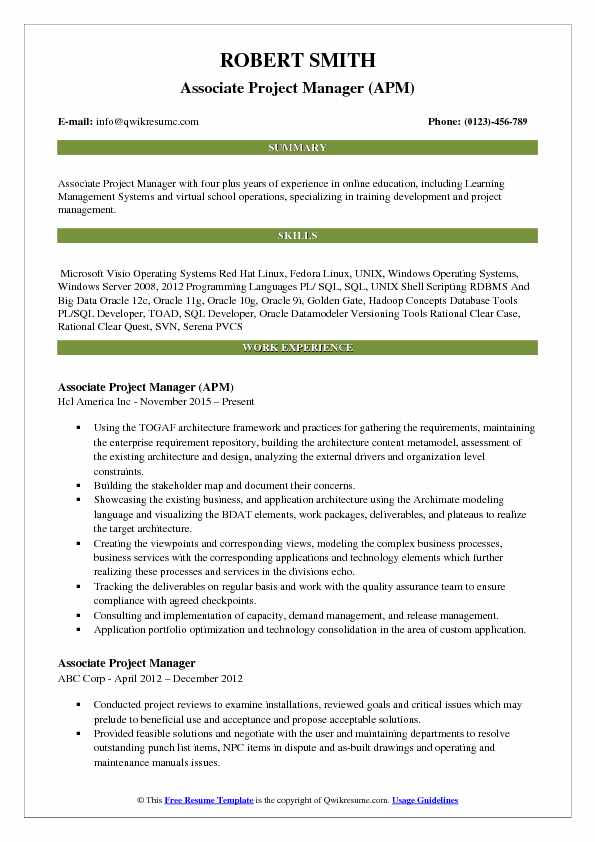 associate project manager resume samples qwikresume sample pdf create own template Resume Associate Project Manager Resume Sample