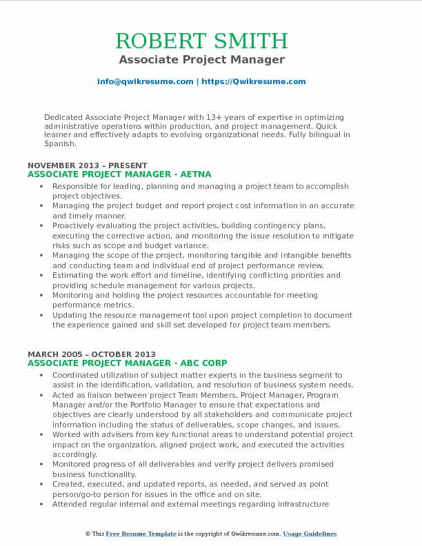 associate project manager resume samples qwikresume sample pdf esthetics instructor entry Resume Associate Project Manager Resume Sample