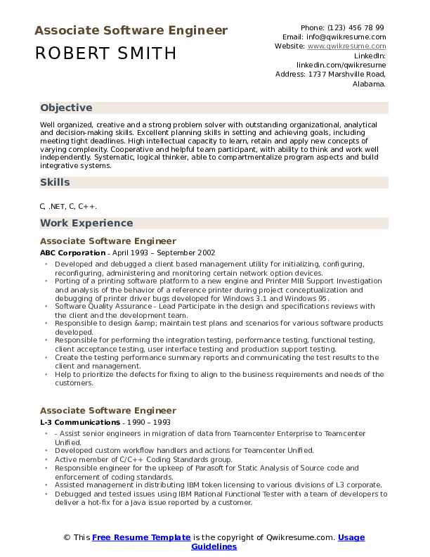 associate software engineer resume samples qwikresume objective pdf importance of cover Resume Software Resume Objective