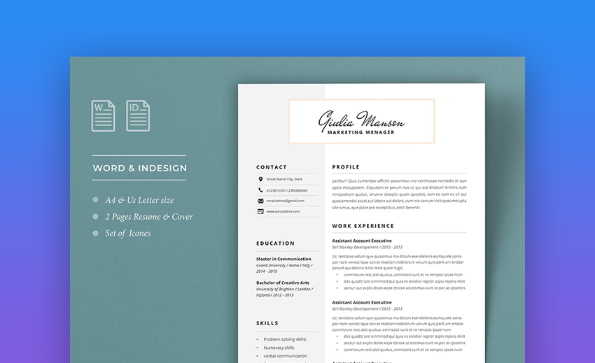 attractive eye catching resume cv templates with stylish aesthetics professional Resume Professional Eye Catching Resume