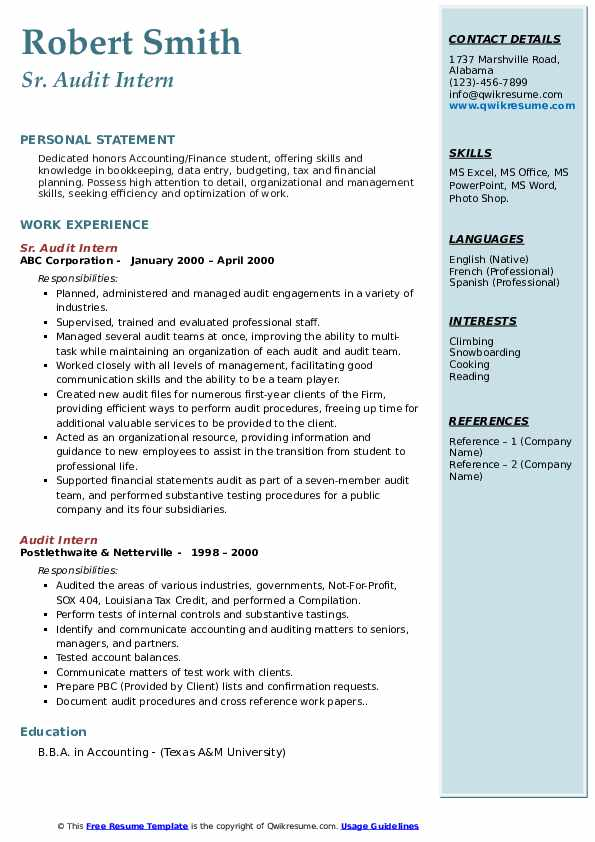 audit intern resume samples qwikresume description pdf wizard word art education examples Resume Audit Intern Resume Description
