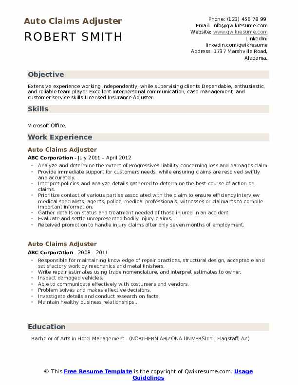 auto claims adjuster resume samples qwikresume summary pdf examples for software Resume Claims Adjuster Resume Summary