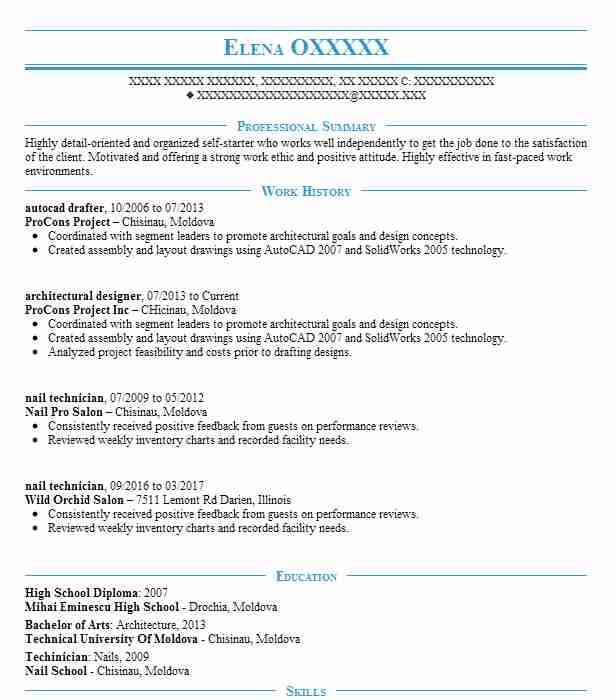 autocad drafter resume example resumes livecareer draftsman electrical design engineer Resume Autocad Draftsman Resume