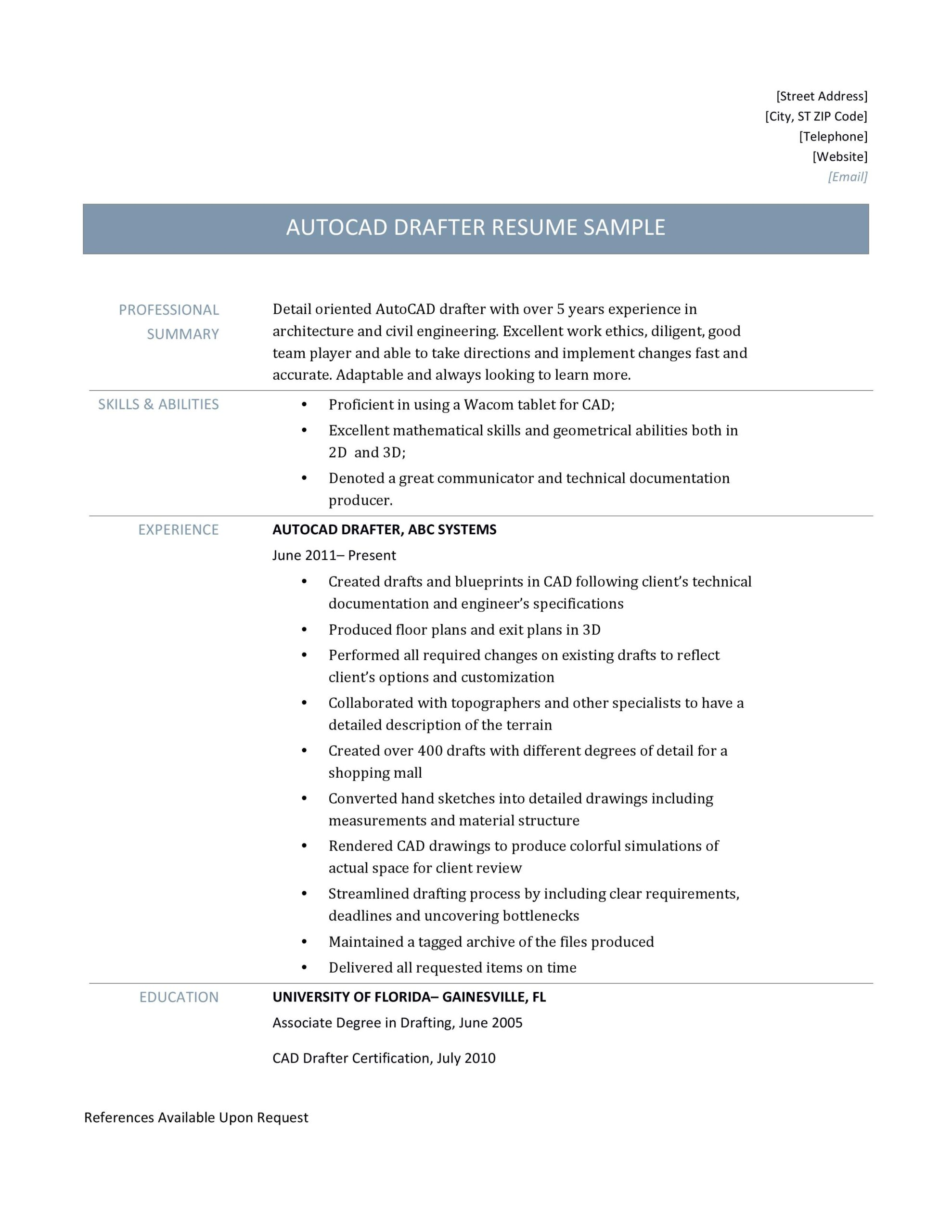 autocad drafter resume sample and job description by builders medium draftsman j2pkzgo0yb Resume Autocad Draftsman Resume
