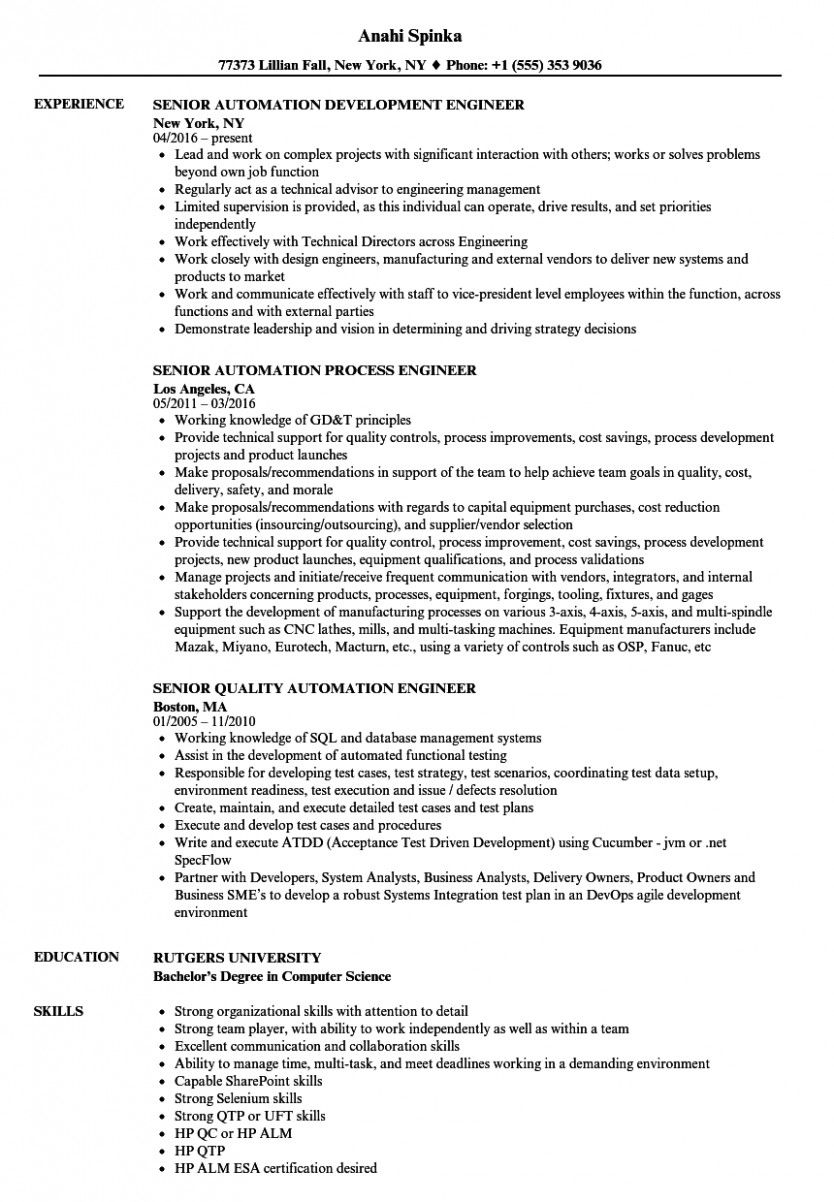 automation engineer resume pdf in examples business analyst template church office Resume Automation Engineer Resume Template