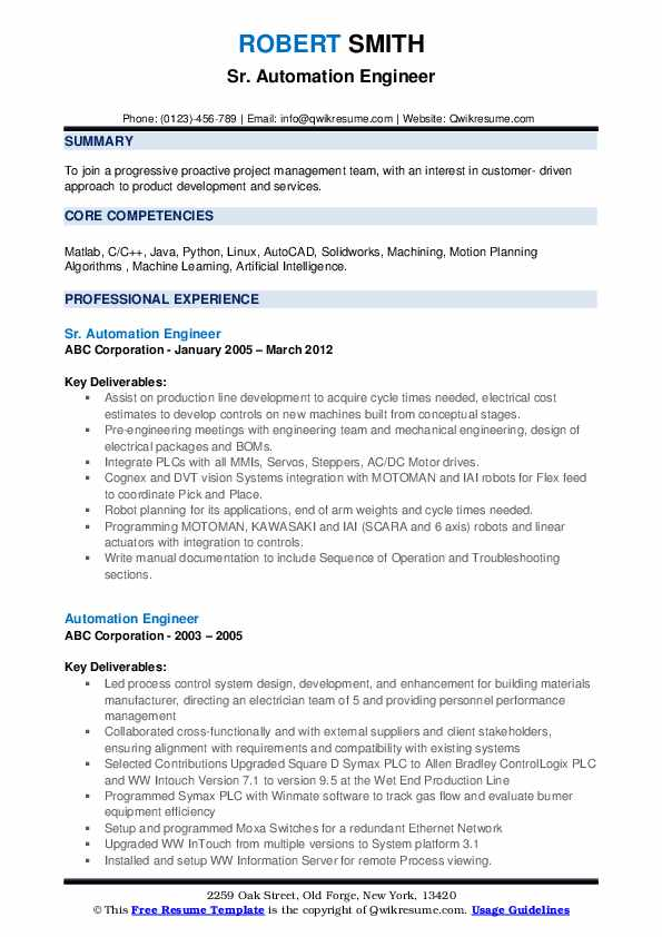automation engineer resume samples qwikresume template pdf devops consultant action words Resume Automation Engineer Resume Template