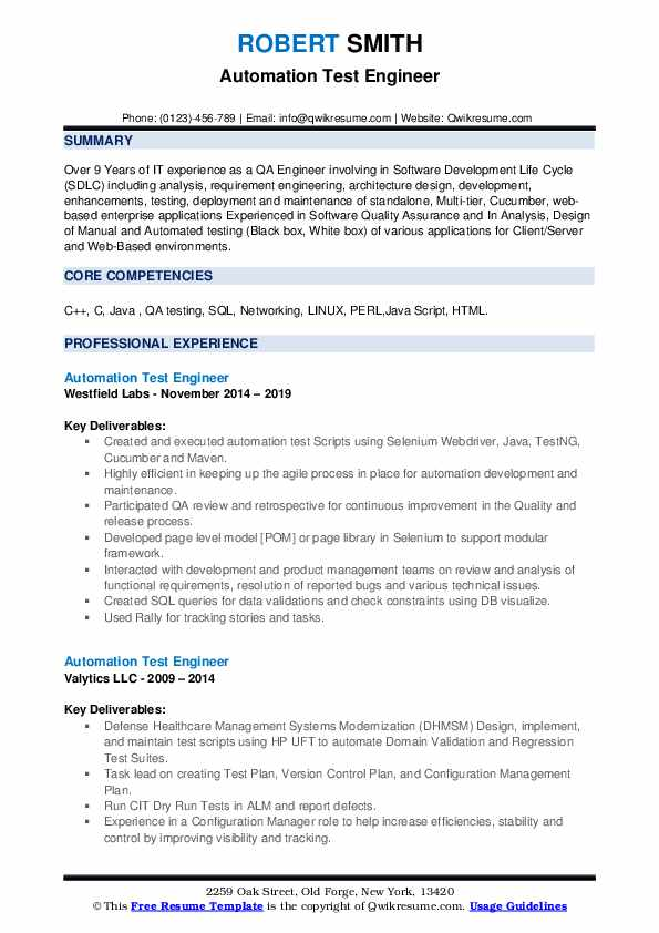 automation test engineer resume samples qwikresume sample pdf financial reporting Resume Automation Test Engineer Resume Sample
