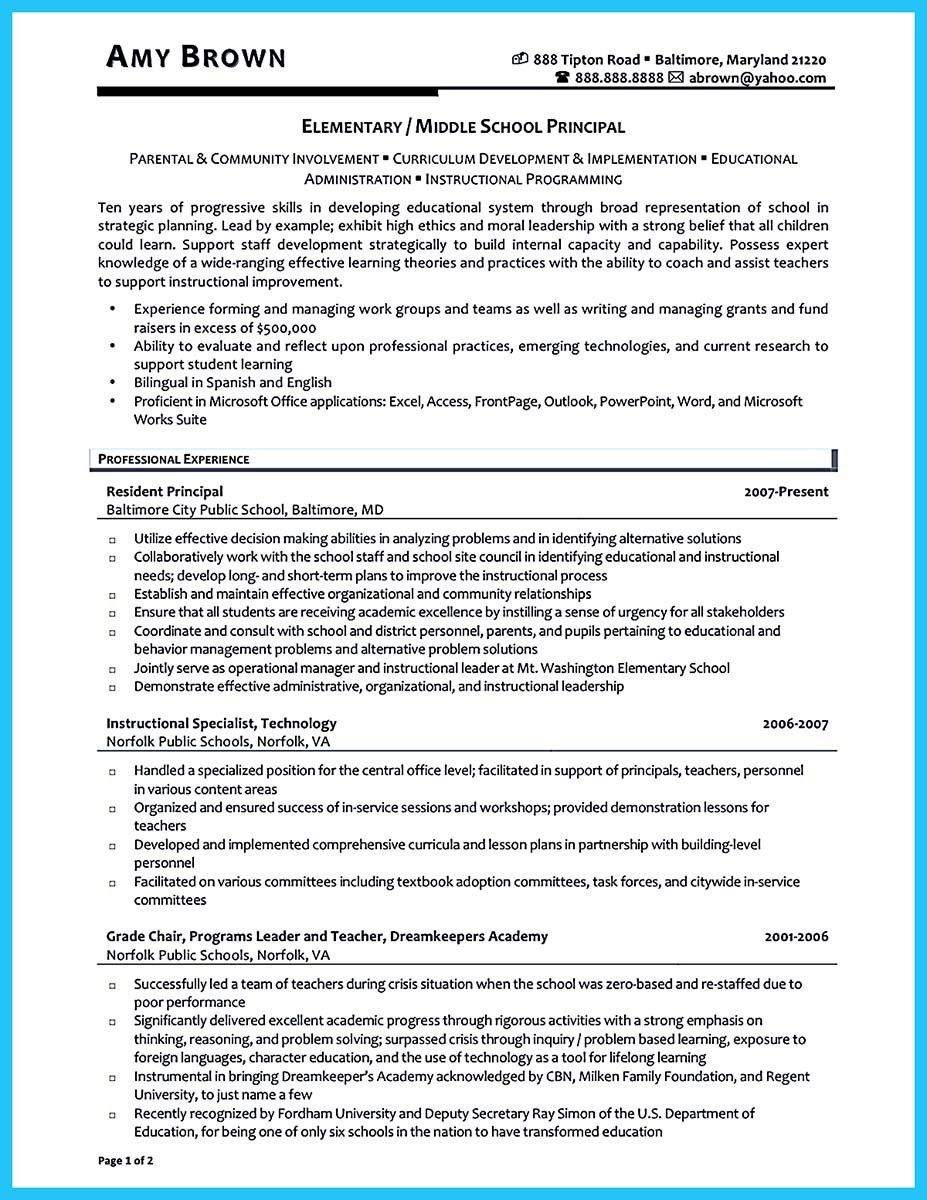 awesome an effective sample of assistant principal resume school administration research Resume Assistant Principal Resume