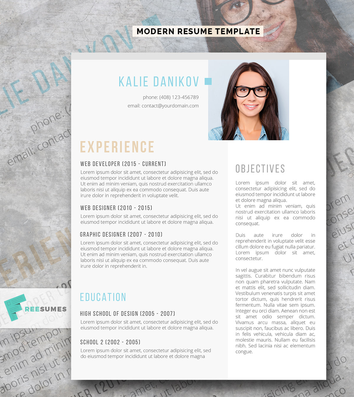awesome free resume templates for creativetacos with photograph template modern clean Resume Free Resume Templates With Photograph