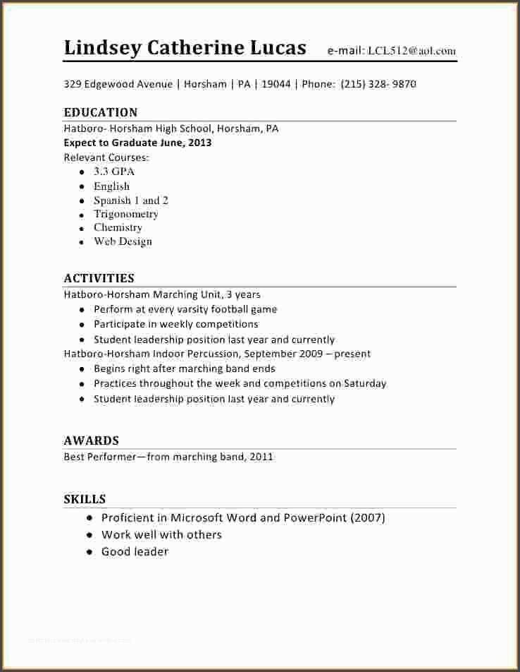 awesome5 first time student resume job examples iphone restore format for marketing Resume First Time Student Resume
