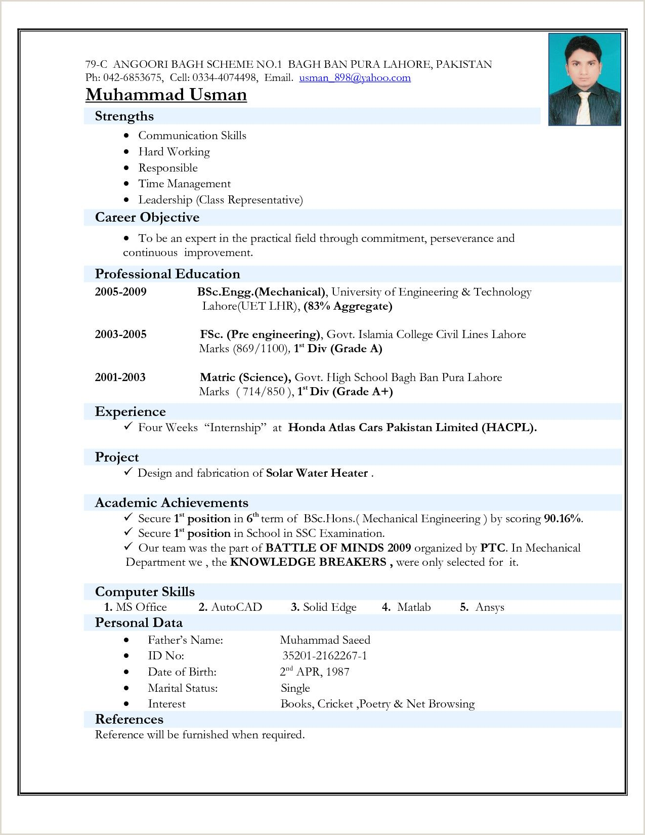 basic resume format for freshers best examples accenture status warehouse worker job Resume Basic Resume Format For Freshers