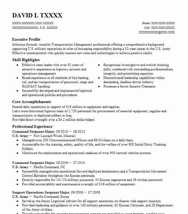 battalion command sergeant resume example army hope north carolina first combination Resume Army First Sergeant Resume