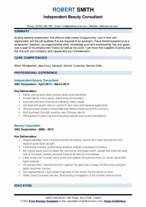 beauty consultant resume samples qwikresume job description pdf example of good currently Resume Beauty Consultant Job Description Resume