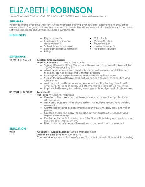 best admin assistant manager resume example livecareer administrative administration Resume Administrative Manager Resume