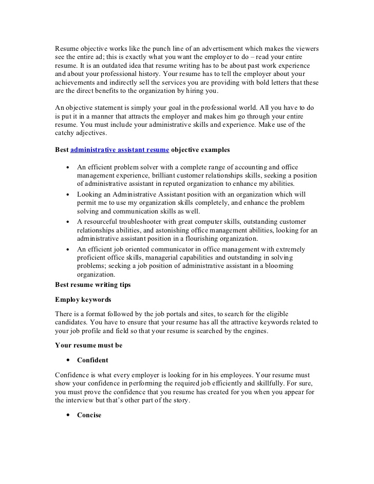 best administrative assistant resume objective article1 good objectives for office Resume Good Resume Objectives For Office Positions