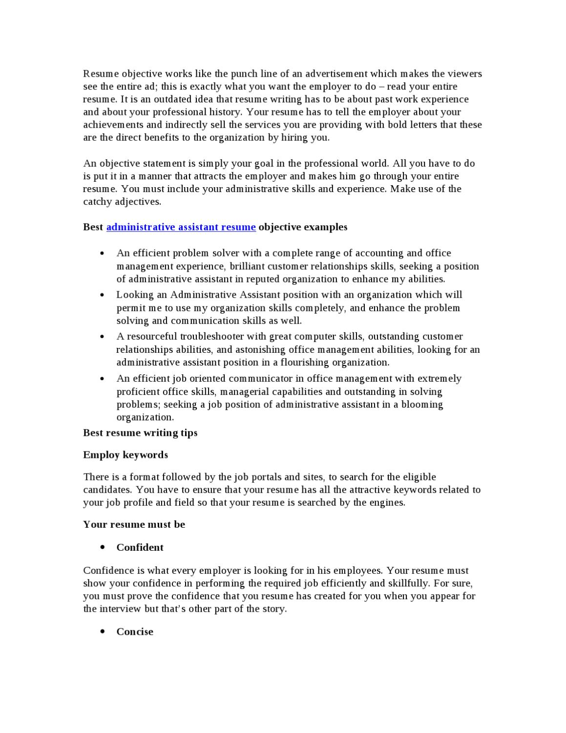 best administrative assistant resume objective by chris klinton issuu admin with clinical Resume Admin Assistant Resume Objective