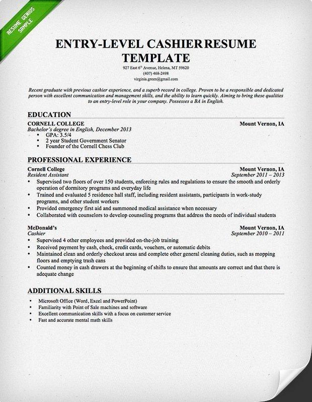 best cashier resume sample templates wisestep experience entry level call center Resume Cashier Experience Resume