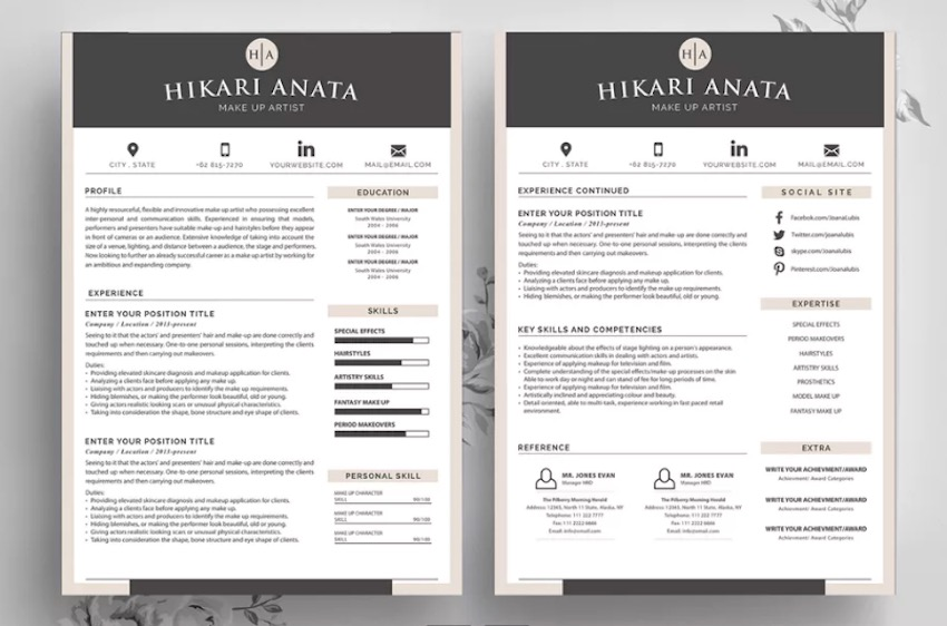 best contemporary resume cv templates new modern styles for professional layout fin Resume Professional Resume Layout 2020