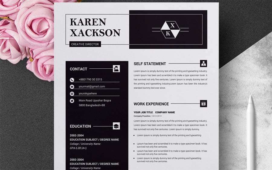 best creative resume cv templates printable photographer clean template currently Resume Creative Photographer Resume Templates