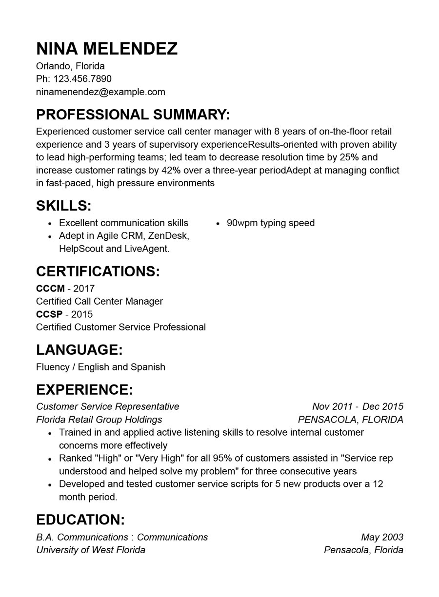 best customer service resume templates with examples good summary for functional Resume Good Customer Service Summary For Resume